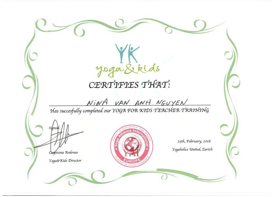 Scan Zertifikat Yoga Kids